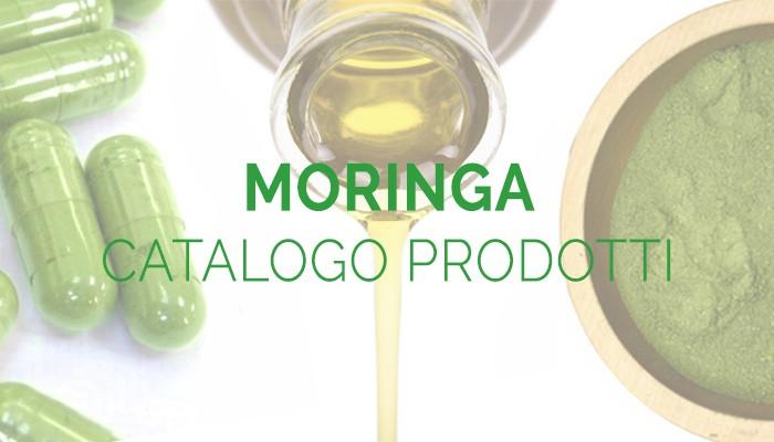 Moringa catalogo prodotti: capsule o polvere