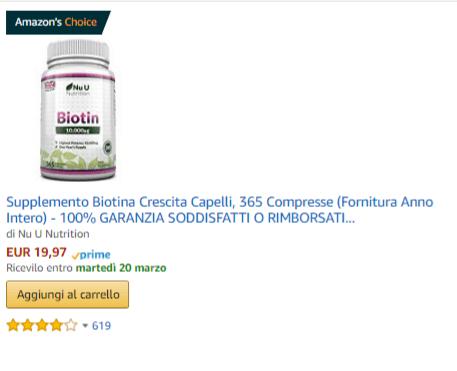 Biotina su Amazon