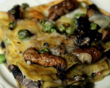 Lasagne vegetariane ricetta facile: funghi